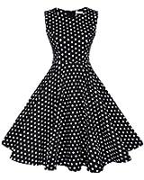 EA Selection Women's 1950s Vintage Retro Sleeveless Polka Dot Rockabilly Swing Party Dress