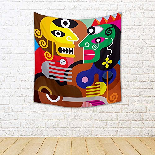ArtzFolio Modern Fine Art D4 Canvas Tapestry Wall Hanging 30 X 32.6Inch - Fine Art Tapestry Wall Hanging
