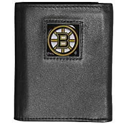 NHL Boston Bruins Executive Genuine Leather Tri-Fold Wallet