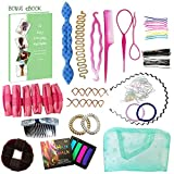 Kit de 15 Piezas Accesorios para Peinados REGALO Libro Electrónico Crear Recogidos Moños Trenzas
