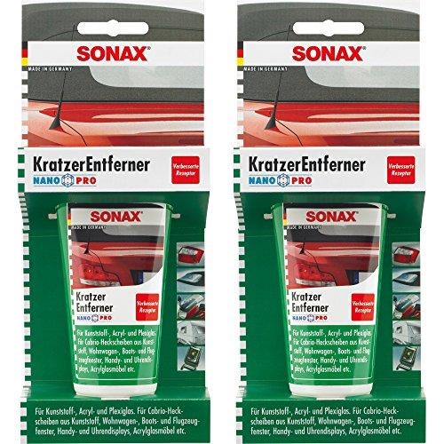 Preisvergleich Produktbild 2x 75ml SONAX KRATZERENTFERNER KUNSTSTOFF NANOPRO KRATZER ENTFERNER POLITUR