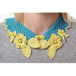 Cuello postizo collar artesanal bisuteria fina regalo personalizado inusual