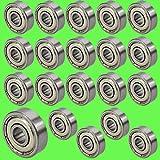 [ JBS basics ] 20 Stück [ 625 ZZ ] Kugellager [ 5 x 16 x 5 mm ] Miniatur Lager Rillen Radiallager Precicion Ball Bearing