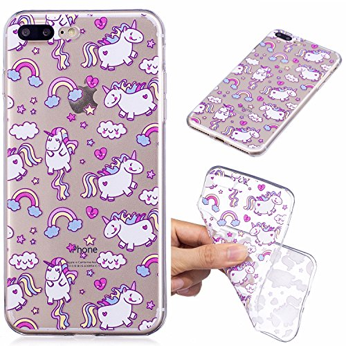 Custodia iphone 7/8 Plus, Cover iphone 7/8 Plus, Cozy Hut [Clear Ultra Sottile Silicone Gel] Liquid Crystal **Estremamente Sottile & Puro Trasparente** Premium TPU silicone case Custodia Cover iphone  Cavallo di Bobby