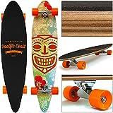 Deuba Skateboard Longboard - 112 x 26cm - Roues ABEC 7 Orange