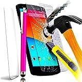 Grand Prime Value Edition SM-G530FZ - PACK A&D® FILM PROTECTION Ecran en VERRE Trempé pour SAMSUNG GALAXY GRAND PRIME SM-G530fz SM filtre protecteur d'écran INVISIBLE & INRAYABLE vitre INCASSABLE + STYLET ROSE pour Smartphone G530FZ SM-G530 g530 G531F android 4g