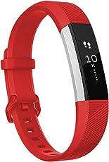 HUMENN Für Fitbit Alta HR Armband, Alta Armband Weiches Verstellbares Sport Ersatzarmband Fitness Zubehörteil mit Metallschließe für Fitbit Alta/Alta HR/Ace Klein Groß