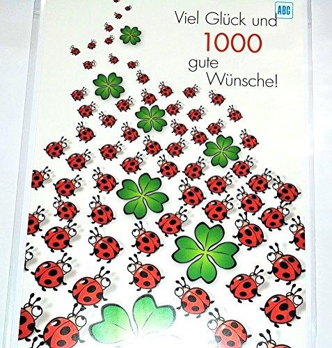 Karte XXL - 1000 Wünsche + Umschlag Klee Karte