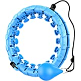 K-MART Smart Hula Ring Hoops, Weighted Hula Circle 24 Detachable Fitness Ring with 360 Degree Auto-Spinning Ball Gymnastics,