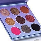 VALUE MAKERS® Matte und Schimmernde Farben Mini Lidschatten Palette Ultra 9 Colors Eyeshadows Flawless Palette