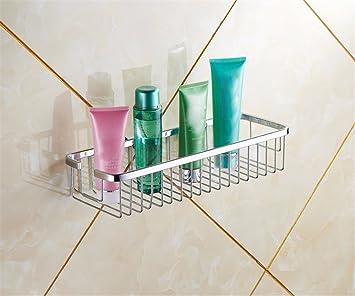 Dusche Regale Rechteckiger Korb Badezimmer Duschablage Aufbewahrungsständer  Einschicht Anti Rost, 50cm