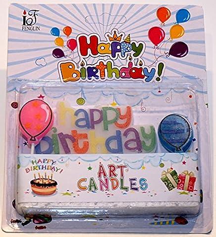 "Geburtstagskerze ""Happy Birthday"" (Typ 1)"