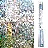 Zindoo Fensterfolie Sichtschutzfolie Blickdicht 3D hochwertige Premium ohne Klebstoffe Statisch Folie Selbstklebend Dekorfolie Anti-UV 45*200cm