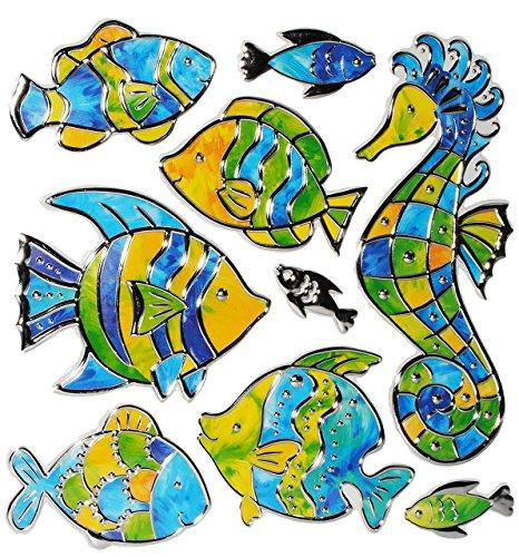 9-tlg-set-3-d-wandtattoo-fensterbild-sticker-fische-seepferdchen-mosaik-wasserfest-fisch-unterwasser