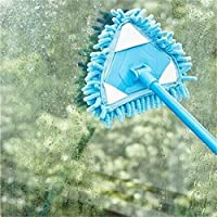 Calli Blue Purple Alternative Chenille Mop Trilateral Washable Triangle Stretching Easy Clean