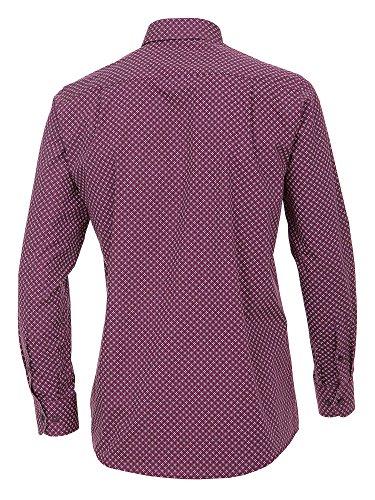 CASAMODA SPORTS Herren Freizeithemd 472646900 Easy Care 100% Baumwolle - Comfort Fit Bordeaux