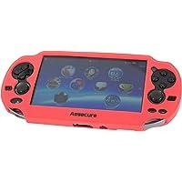 Custodia Assecure Pro in silicone morbida rosso per custodia di controller Sony PS Vita in gomma Deumidificatore di urti