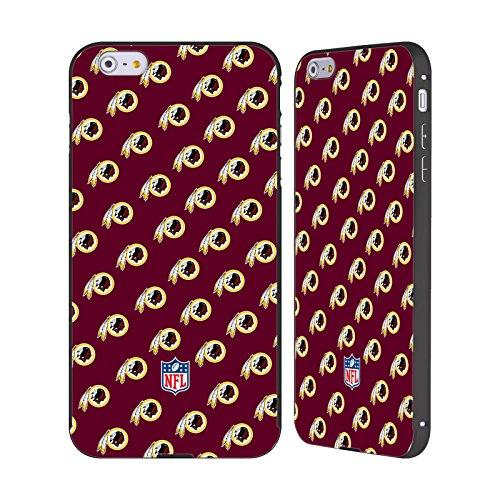 Ufficiale NFL Righe 2017/18 Washington Redskins Nero Cover Contorno con Bumper in Alluminio per Apple iPhone 6 Plus / 6s Plus Pattern