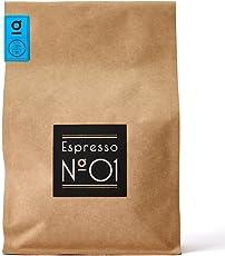 Espresso N°01 von Coffee858 – Handgerösteter Premium Kaffee – Fair & Direkt gehandelt – Arabica-Robusta Blend – Säurearm & Bekömmlich – Traditionelle Trommelröstung – ganze Bohne (350 g)