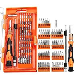 TOPELEK GEDS009AY - Kit Cacciaviti Riparazione 58 in 1, Arancione 61SiKsJ5SpL. SS300