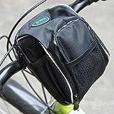 Calli Bike Bicycle Handlebar Bar Bag Front Frame Pannier Tube Rack Basket