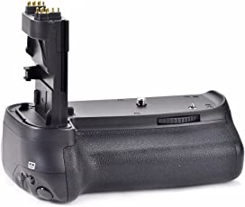 EACHSHOT Pro Battery Grip Hand Grip Works with 6pcs AA Battery or LP-E6 Battery (Battery Not Included) + Battery Grip Holder for Canon EOS 80D