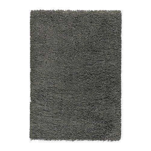 IKEA-GASER-Alfombra-pelo-largo-de-color-gris-oscuro-170x240-cm