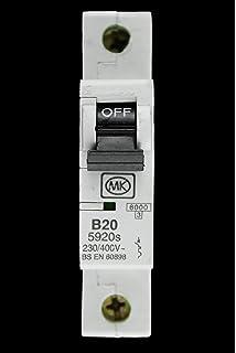 MK B20 20 Amp 5920s SP Circuit Breaker MCB