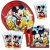 Mickey Mouse - Party Set - 8x Platos 8x Vasos 20x Servilletas