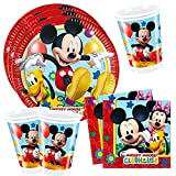 Micky Maus - Set Party Teller Becher Servietten Partygeschirr Mickey Mouse