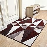 Mangeoo Nordic Bodenmatte, Tür, Tür, Teppich, Matratze, Fußmatte, Lobby, Modernes Einfaches Wohnzimmer, Veranda Nach Hause, 60 * 90Cm, Dreieckige Koffein