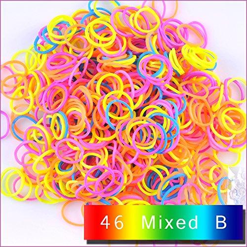 kirinstores (TM) 6000PCS 240Clips Bands Nachfüller für Loom Regenbogen Armband Kleid Making Hautton, gemischt B (Bands Loom 6000)
