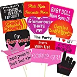 #9: Party Propz Wedding Photobooth Props 13 Pcs For Wedding, Bachelorette, Bride To Photo Props