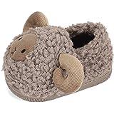 LACOFIA Pantofole da Interno in Peluche per Bambino Ciabatte Antiscivolo Invernali Scarpe da casa per Animale per Bambini