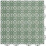 Andiamo 202401 - Set de baldosas de plástico para suelo, 38 x 38 cm, 7 unidades, 1 m², color verde