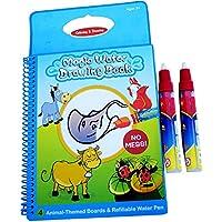 Rangebow Libro de dibujo de mágico con el abecedario, reutilizable, con lápiz de agua, para niños de 2 y 3 años
