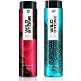 Wild Stone Hydra Energy and Ultra Sensual Talcum Powder Combo for Men, 100gm each (Pack of 2)