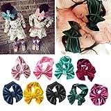Jiamins Bandeau de bébé, accessoires de bandeaux de grand arc de velours, accessoires de photo, tenues de photo de nouveau-né (Rose)
