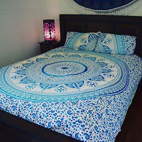 Indian Mandala piumino, con cristallo di Boemia, lenzuola, cuscini, copriletto, coperta con custodia