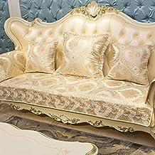 Stile europeo Divano slipcovers,Cotone antiscivolo multiuso divano copertina decorazione mobili protector componibile per fodera per cuscino salotto-B 70x210cm(28x83inch)