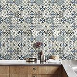 JY ART AYZ Fliesenaufkleber Dekorative Wandgestaltung mit Fliesenaufklebern für Küche und Bad, Deko-Fliesenfolie für Küche u. CZ016, 20cm*5m