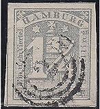 Goldhahn Hamburg Nr. 8 c gestempelt Geprüft Briefmarken für Sammler