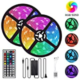 Tiras LED, GLIME LED Strip 10m 5050 RGB Regulable...