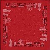 ekelund tischdecke julstad 30 / 145 x 145 cm 100% bio-baumwolle