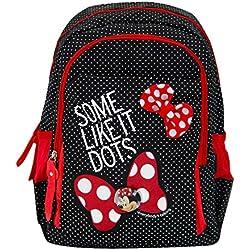 Genius Disney Minnie Black Red 13 Inch School Bag for Girls for Nursery