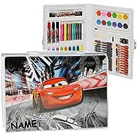 Malen & Zeichnen Cars Malkoffer Set 51 teilig Neu Geschenk Stifte Farben