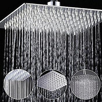 xxl regendusche duschkopf edelstahl regenbrause anti-kalk-düsen ...