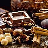 Artland Qualitätsbilder I Glasbilder Deko Glas Bilder 20 x 20 cm Ernährung Genuss Süßspeisen Schokolade Foto Braun A6TN Schokolade mit Zutaten
