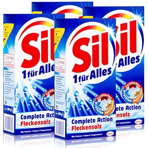 Sil 1 für Alles Complete Action Fleckensalz 500g-zur Zusatzbehandlung (4er Pack)
