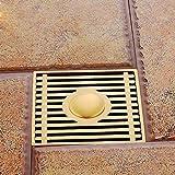 Square Multi-Funktions-Deodorant Bodenablauf Kupfer große Verschiebung Badezimmer Badezimmer Flieseneinsatz Boden Kanalisation mit abnehmbaren Filterabdeckung